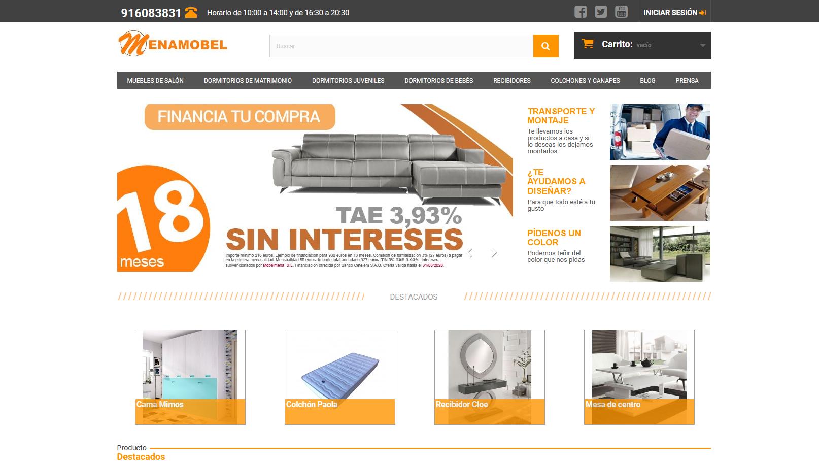 Menamobel revela las 10 ventajas de comprar muebles online