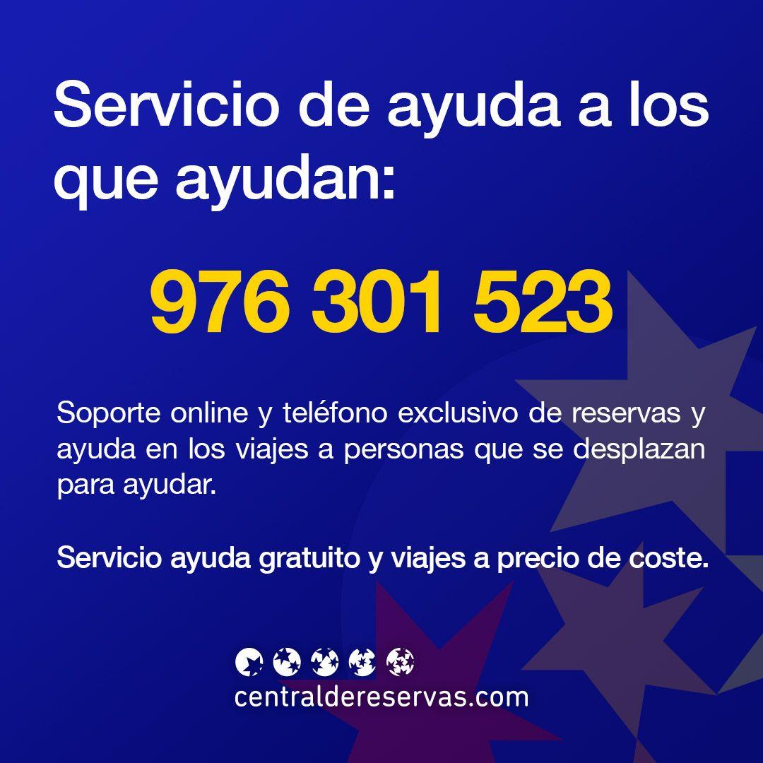 Servicio de ayuda a los que ayudan de Centraldereservas.com