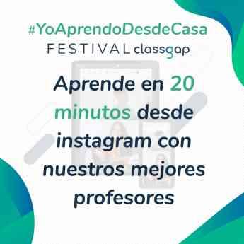 Cartel del Festival #YoAprendoDesdeCasa
