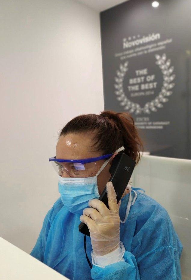 Foto de Protección ojos personal sanitario.