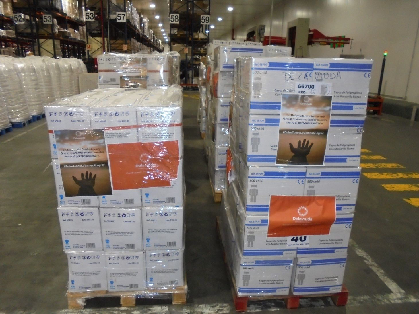 Delaviuda Confectionery Group dona material sanitario al complejo hospitalario Virgen de la Salud de Toledo