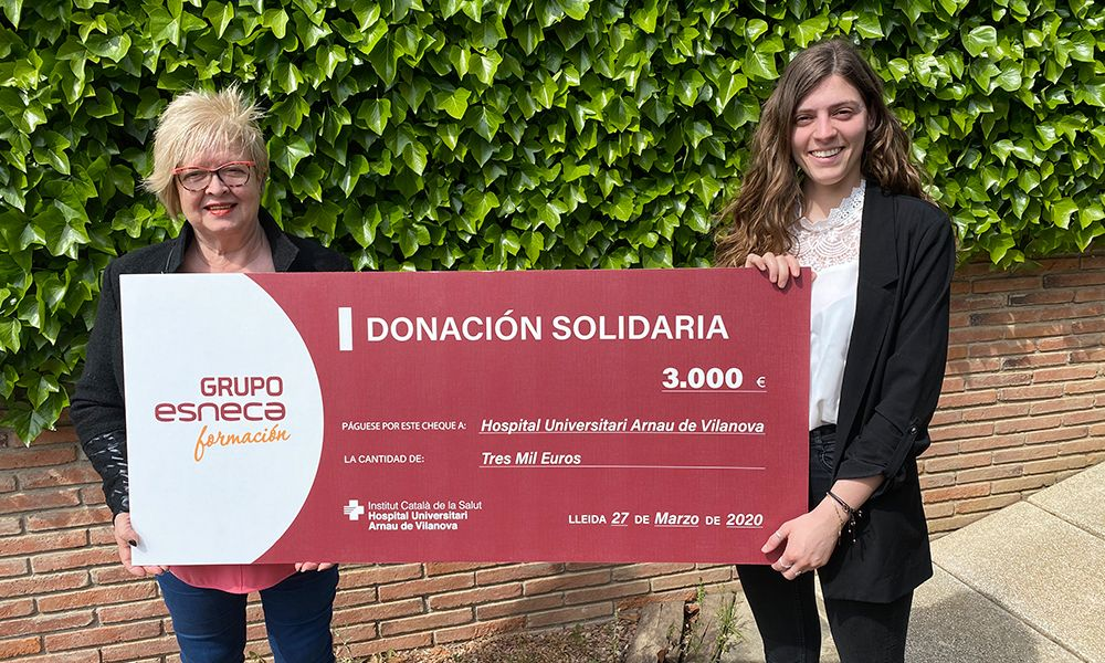 Foto de Esneca Business School dona 3.000 euros al Hospital