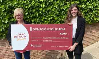 Esneca Business School dona 3.000 euros al Hospital Universitari Arnau de Vilanova de Lleida para ayudar a combatir el coronavir