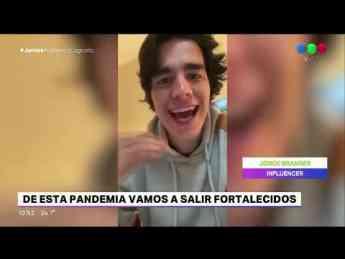 Foto de Jorge Branger en la televisión nacional de Argentina.