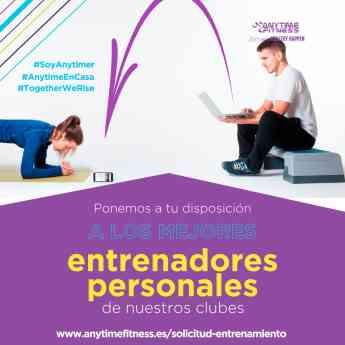 Anytime Fitness ofrece entrenamiento personal gratis para todo el mundo
