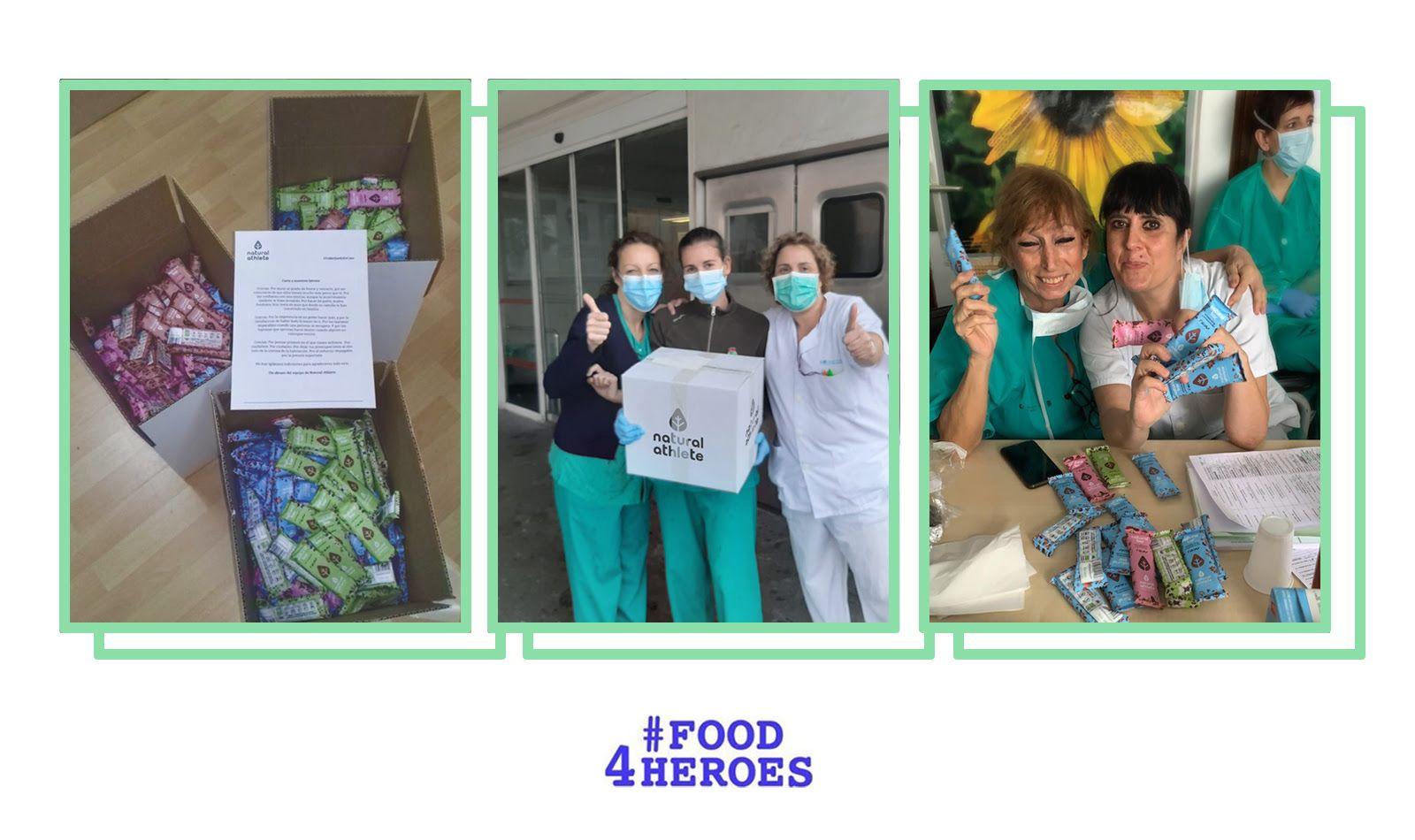 Foto de Natural Athlete se une a Food4Heroes y dona barritas