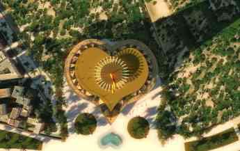 Vista en planta (orientativa) de la Torre Un Corazón para todo el Mundo.