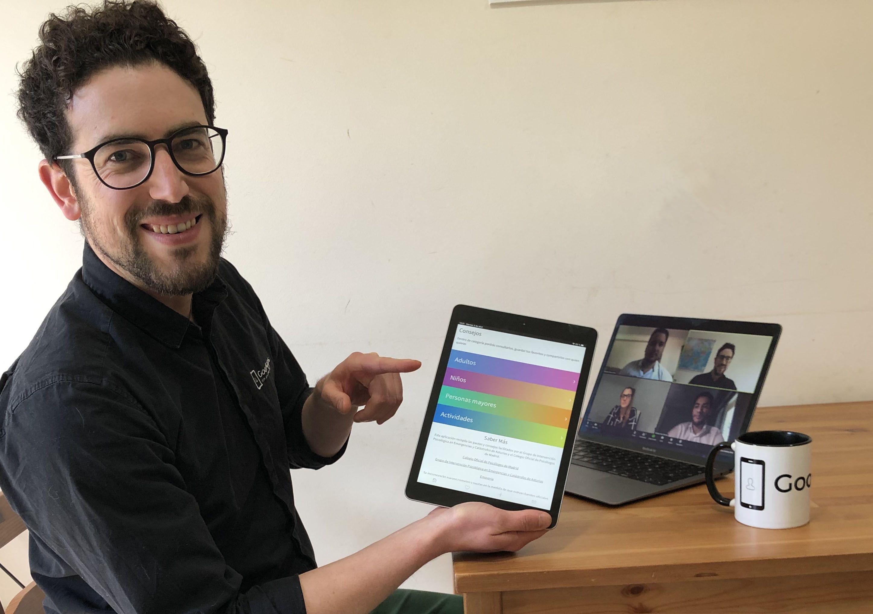 Foto de El equipo de Goo Apps en videoconferencia presentado la app