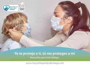 Yo te protejo a ti, tu me proteges a mi, Mascarillas para toda Málaga