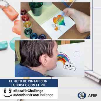 #BocaPieChallenge: el reto de pintar con la boca o con el pie