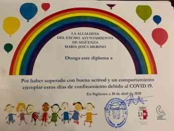 Diploma para los niños y niñas en Sigüenza