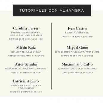 CARTEL TUTORIALES CON ALHAMBRA