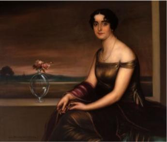 Foto de Retrato de dama con jarrón de cristal - Julio Romero de