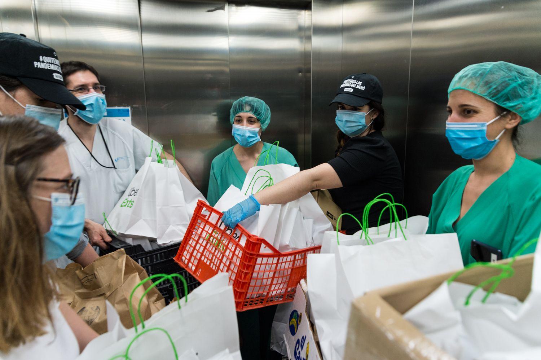 Foto de Trabajadores del hospital del Sureste en Arganda, Madrid,