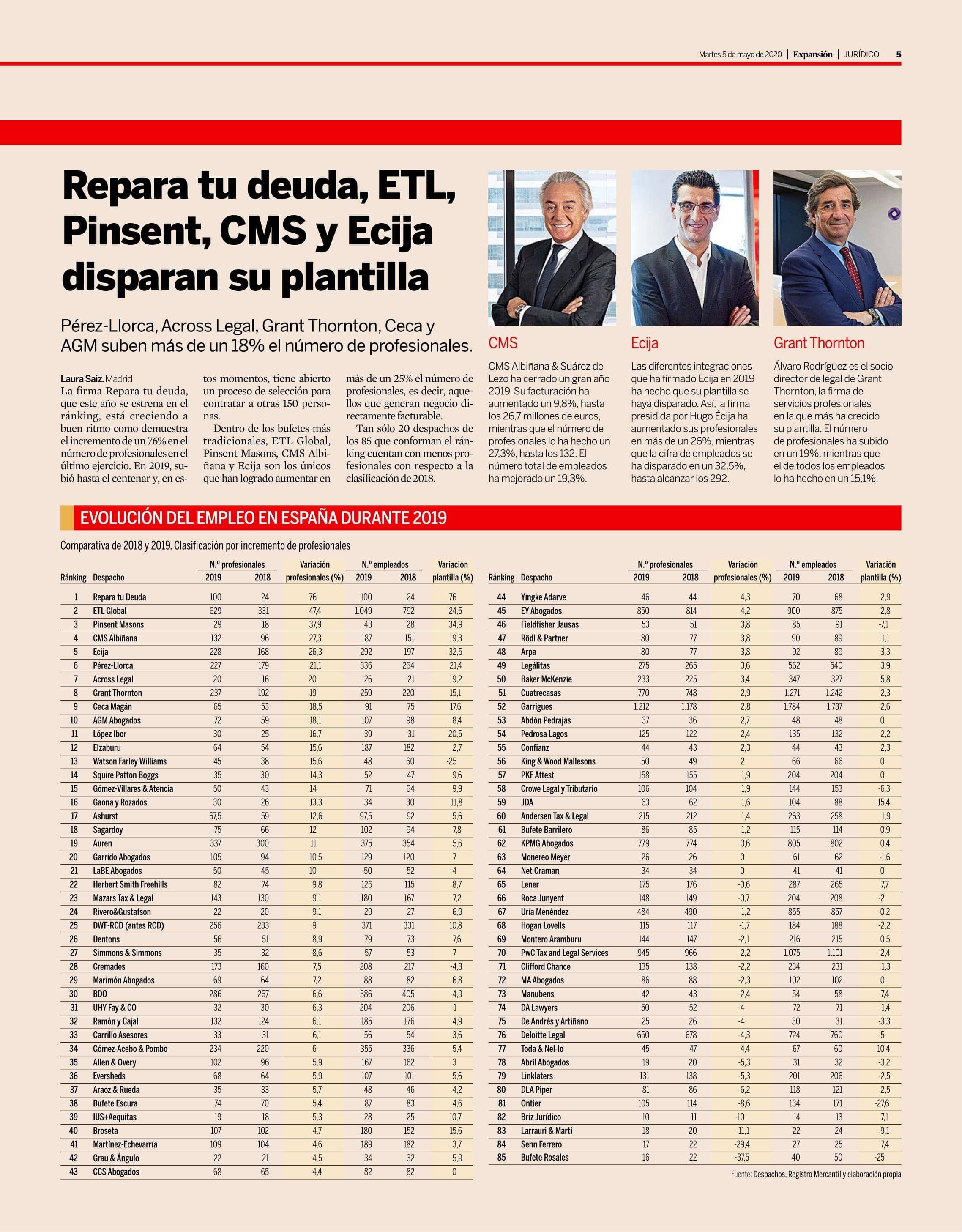 Foto de Repara tu deuda abogados, primera posición en el ranking de