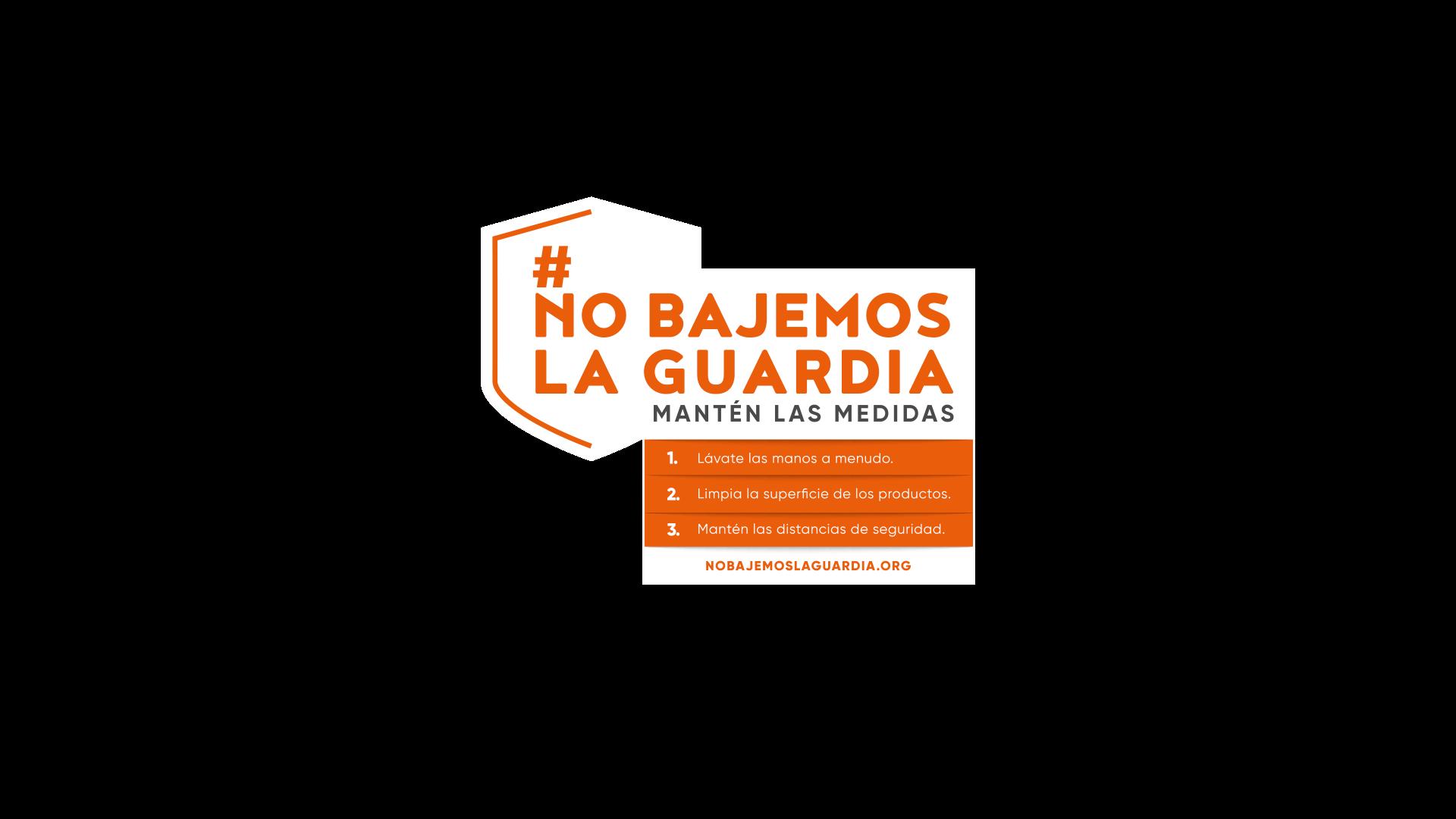 Foto de Logotipo de la campaña #nobajemoslaguardia