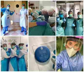 FOTO: Imágenes de archivo de enfermeras guipuzcoanas.