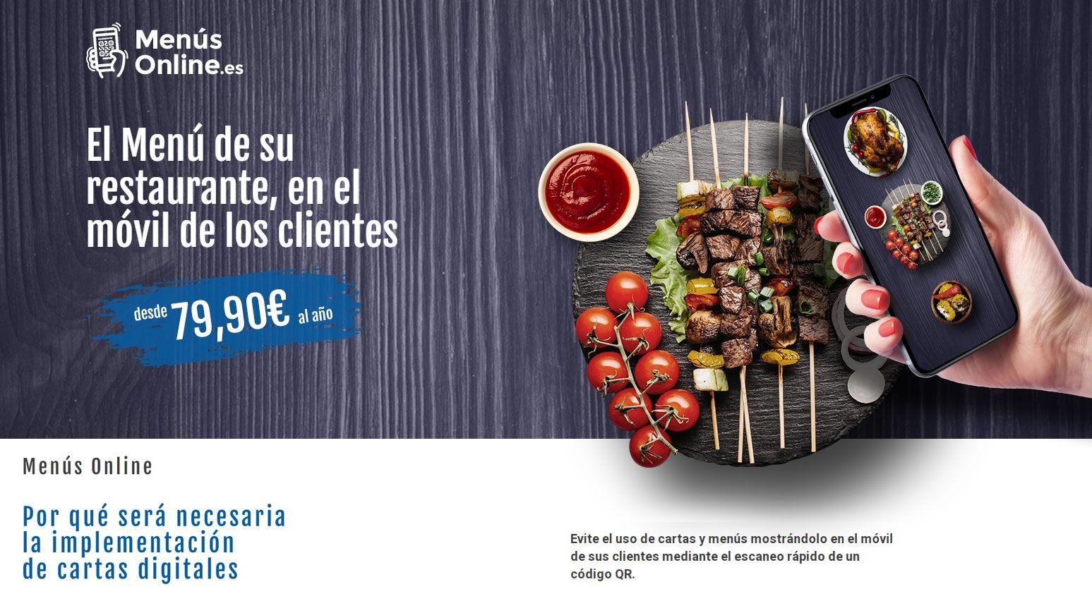 Fotografia Carta Digital para restaurantes