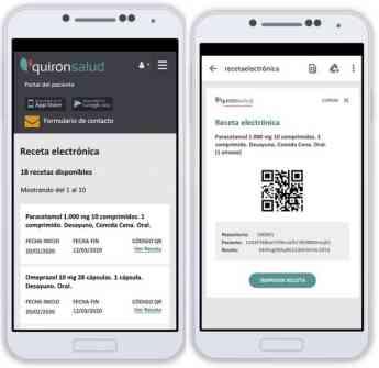 Se puede acceder a las recetas electrónicas desde la app gratuita de Quirónsalud