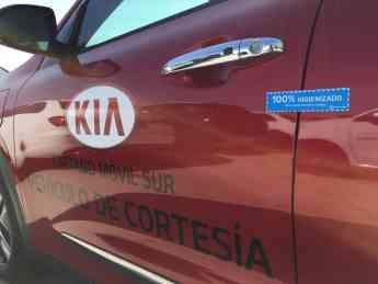 Etiqueta 100% Higienizado para vehículos tratados con Ozono y productos viruzidas