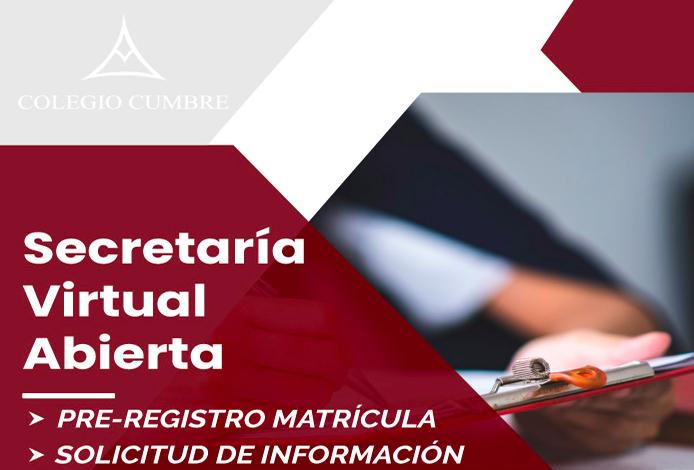 Foto de Secretaría Virtual Colegio Cumbre