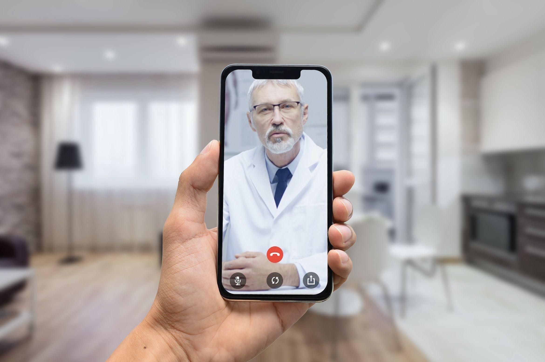 Fotografia Videoconsulta médica