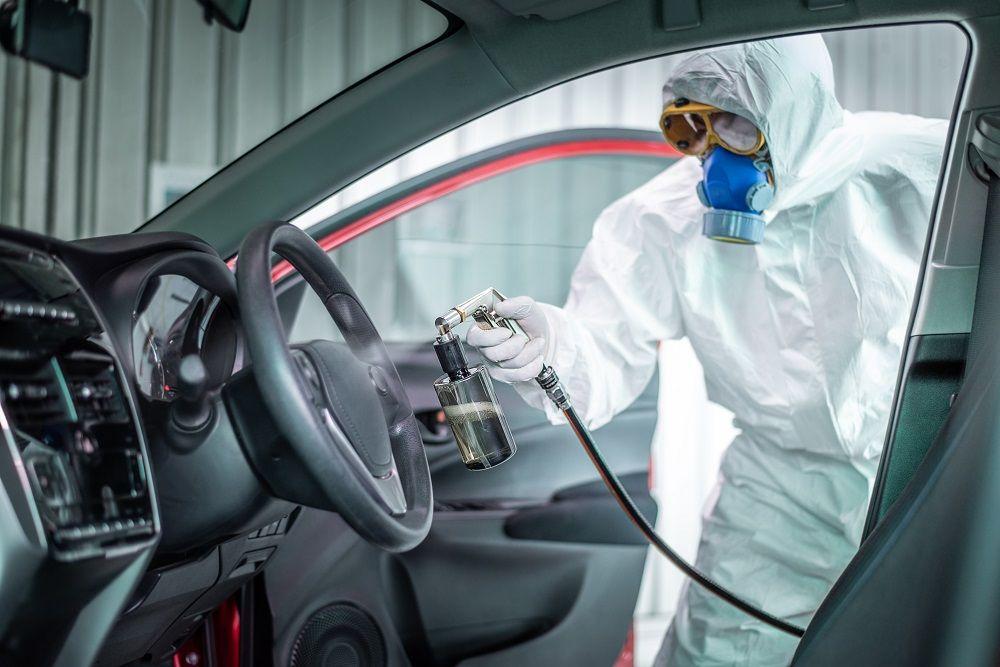 Fotografia Desinfección de vehículos