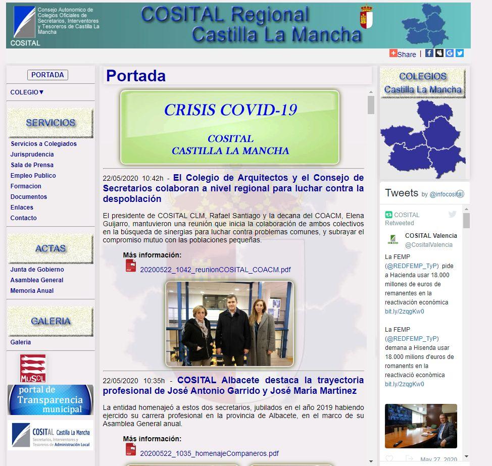 COSITAL Network informa a los ciudadanos sobre la actualidad normativa de la crisis del COVID19