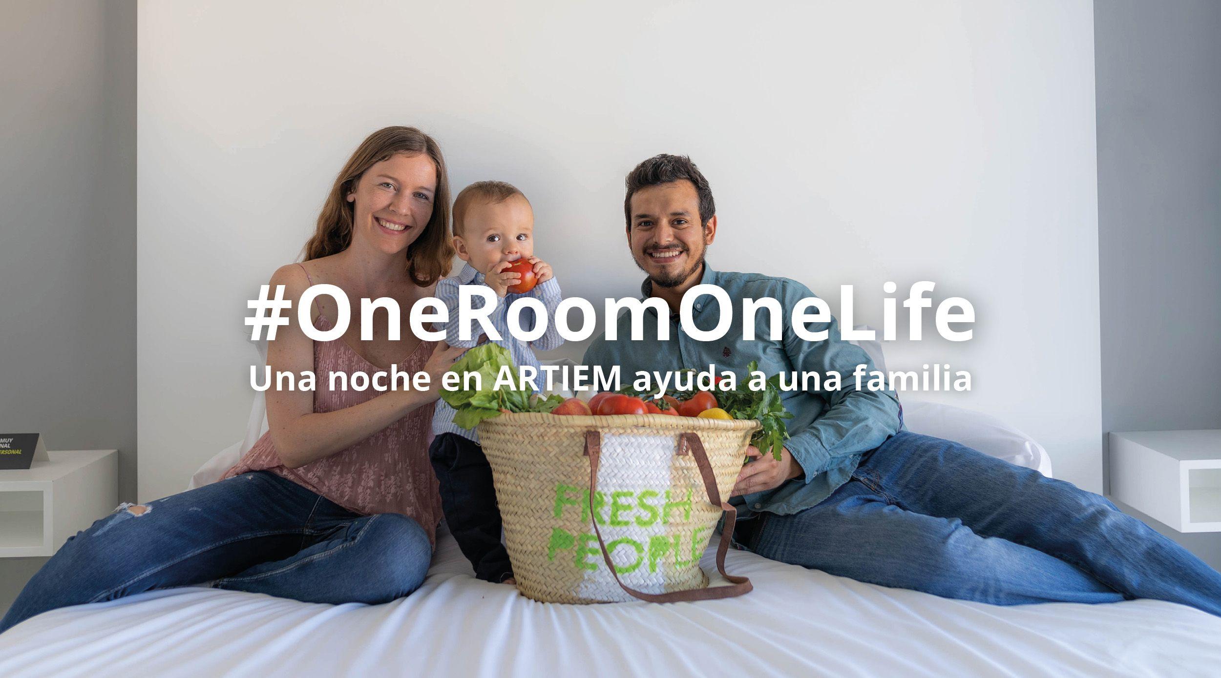 #OneRoomOneLife, una noche en ARTIEM ayuda a una familia