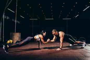 Atletas entrenando