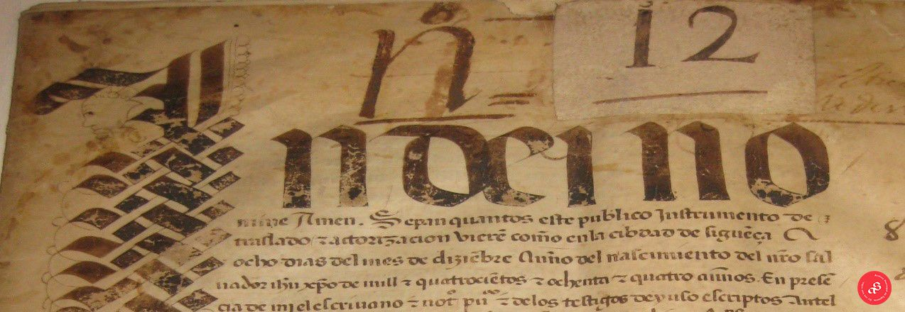 Foto de Archivo Municipal. Año 1484.