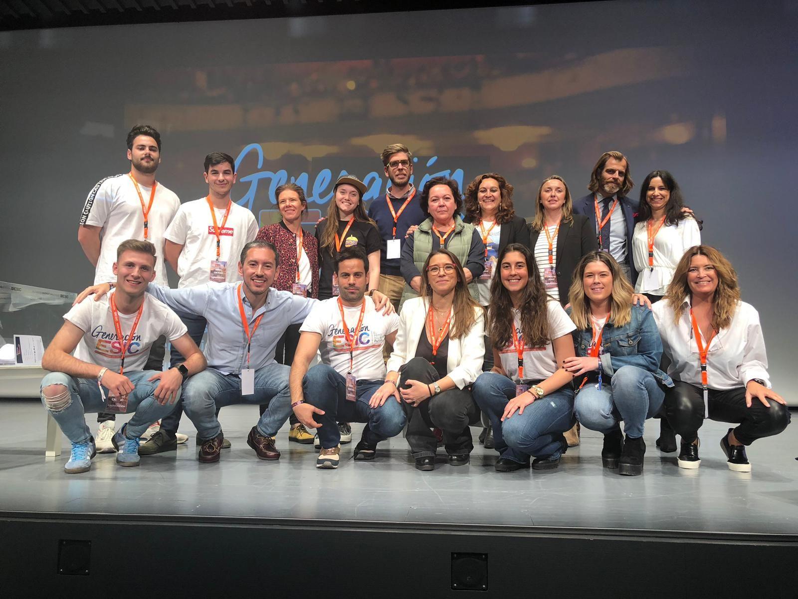 Foto de Alumnos en un evento en ESIC Sevilla