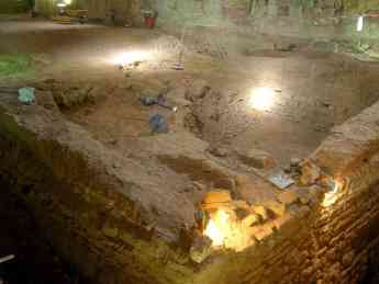 Foto de Restos Torreón Islámico en la Iglesia de Santiago de