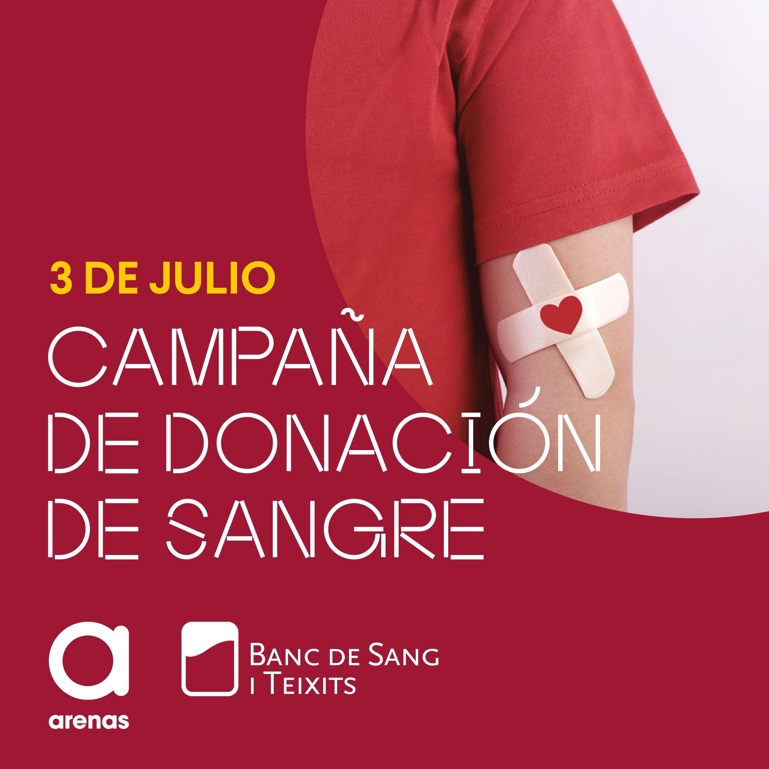 Arenas de Barcelona llevará a cabo una campaña de donación de sangre en colaboración con el Banc de Teixits,