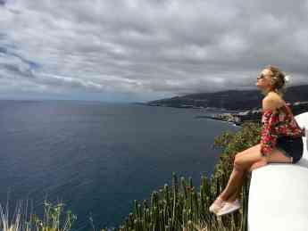 Foto de María de León en La Palma.