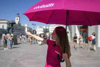Guía turística en la Puerta del Sol