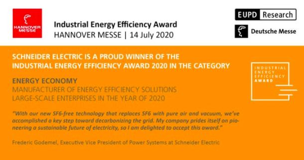 Foto de Schneider Electric gana el Industrial Energy Efficiency Award