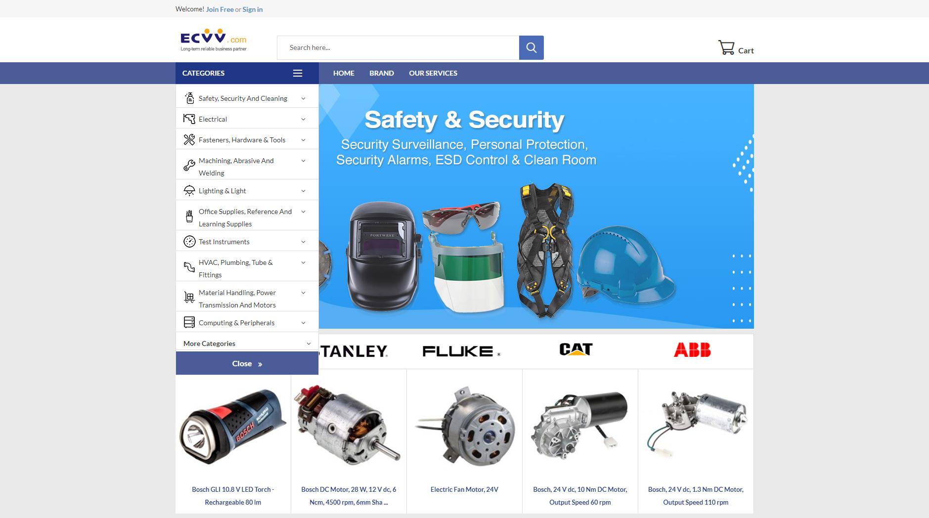 Servicio de Abastecimiento de Productos MRO rentable y unificado para compradores globales de MRO.ECVV.COM