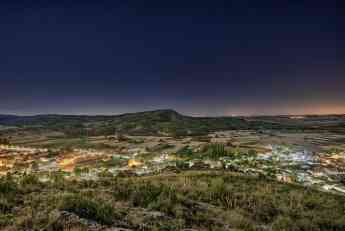 Foto de Vista nocturna de Albalate de Zorita