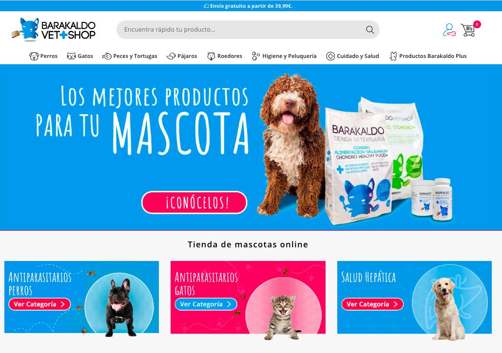 Barakaldo Tienda Veterinaria irrumpe en el mercado nacional de productos para mascotas
