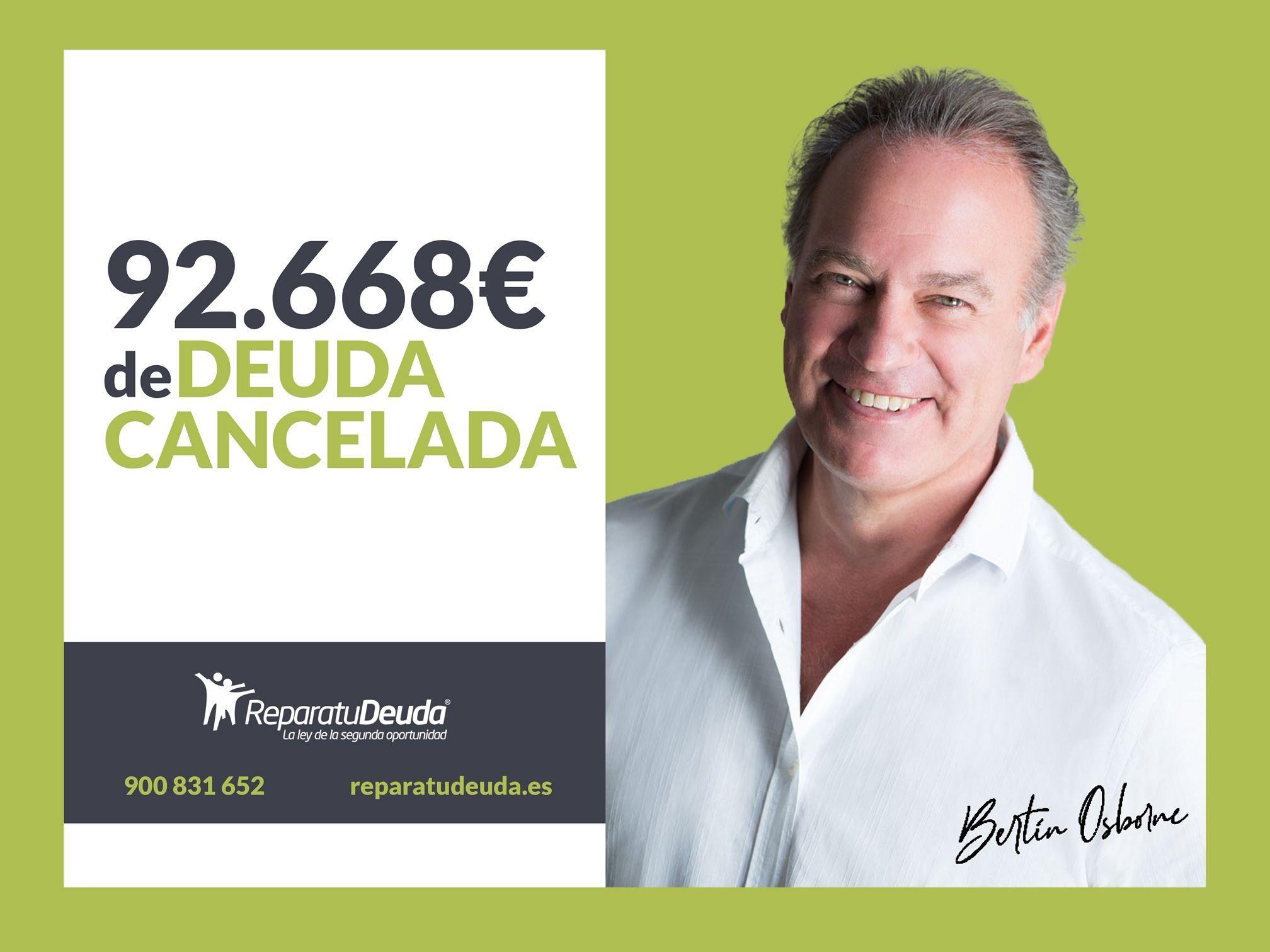 Repara tu Deuda cancela 92.668 ? en Castellbell i el Vilar (Manresa) con la Ley de Segunda Oportunidad