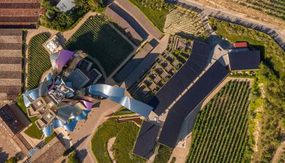 Fotografia Foto aérea de la instalación de autoconsumo