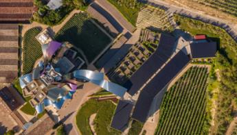 Foto aérea de la instalación de autoconsumo