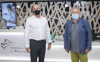 Isidoro Beltrán de Heredia, Director Comercial de Quirónsalud en el País Vasco, con Guillermo Murgía, Director Médico Oficial de