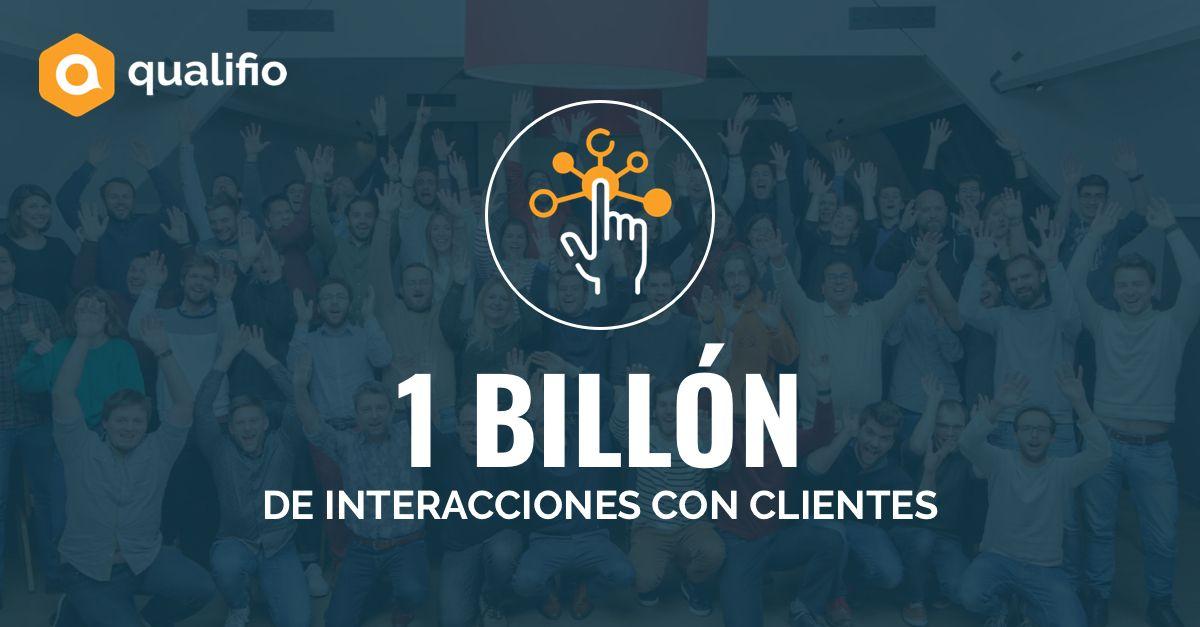 Foto de 1 billón de interacciones con clientes