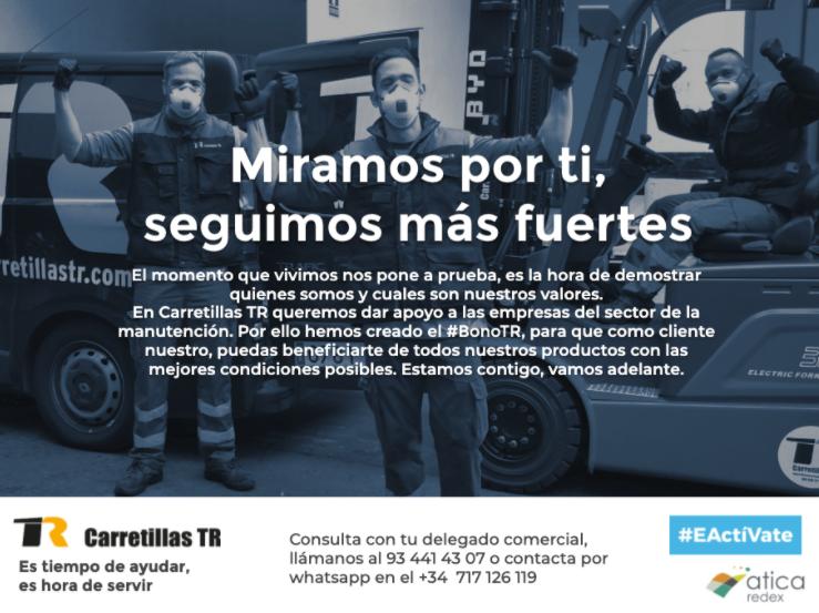 Carretillas TR lanza un bono para plantar cara a la crisis