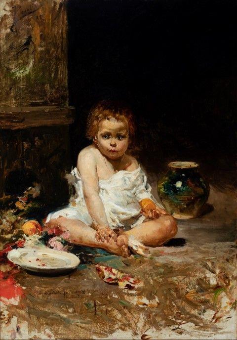 Foto de El niño de la granada - Roma, 1885 - Joaquín Sorolla y