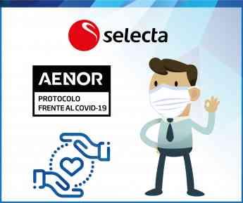 AENOR certifica a SELECTA frente al Covid-19