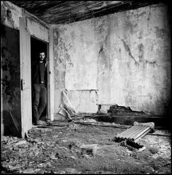 Fotografía de la exposicion 'La destrucción del Bajo Manhattan'