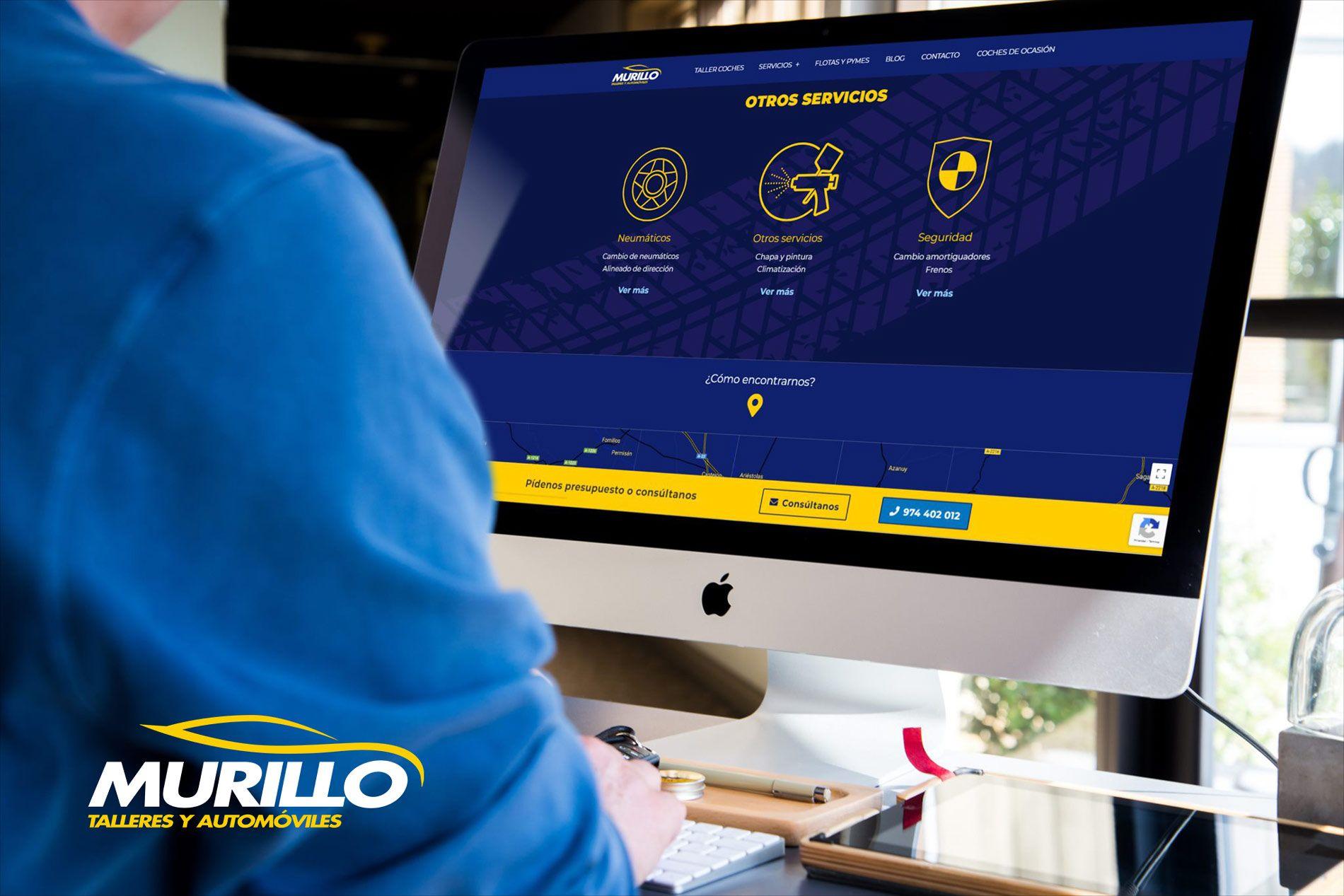 Talleres Murillo estrena web e imagen corporativa